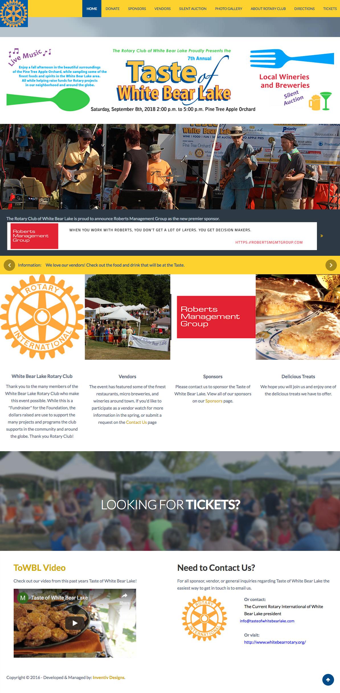 Taste-of-white-bear-lake-website-design