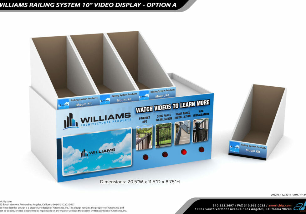 WILLIAMS-RAILING-SYSTEM-10-INCH-VIDEO-DISPLAY-OPTION-B-Lights